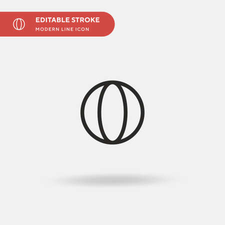 Beach Ball Simple vector icon. Illustration symbol design template for web mobile UI element. Perfect color modern pictogram on editable stroke. Beach Ball icons for your business project