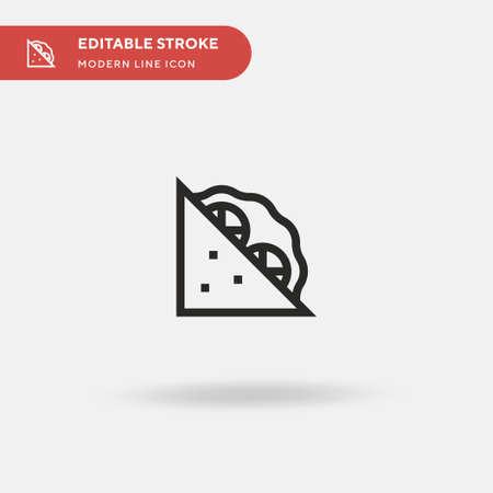 Sandwich Simple vector icon. Illustration symbol design template for web mobile UI element. Perfect color modern pictogram on editable stroke. Sandwich icons for your business project Ilustração