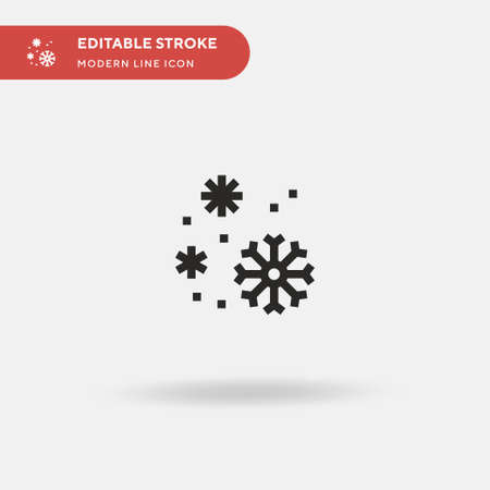Snowflakes Simple vector icon. Illustration symbol design template for web mobile UI element. Perfect color modern pictogram on editable stroke. Snowflakes icons for your business project