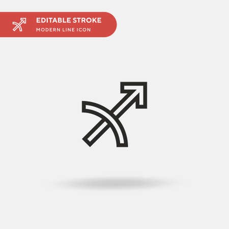 Sagittarius Simple vector icon. Illustration symbol design template for web mobile UI element. Perfect color modern pictogram on editable stroke. Sagittarius icons for your business project
