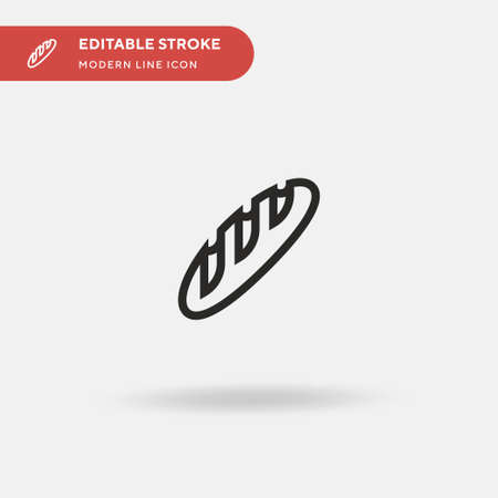 Baguette Simple vector icon. Illustration symbol design template for web mobile UI element. Perfect color modern pictogram on editable stroke. Baguette icons for your business project