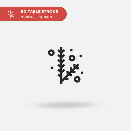 Pine Simple vector icon. Illustration symbol design template for web mobile UI element. Perfect color modern pictogram on editable stroke. Pine icons for your business project 일러스트