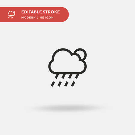 Weather Simple vector icon. Illustration symbol design template for web mobile UI element. Perfect color modern pictogram on editable stroke. Weather icons for your business project