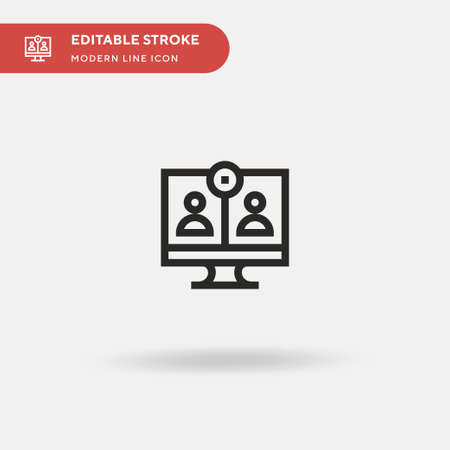 Video Call Simple vector icon. Illustration symbol design template for web mobile UI element. Perfect color modern pictogram on editable stroke. Video Call icons for your business project