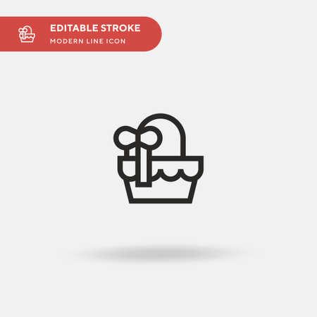 Basket Simple vector icon. Illustration symbol design template for web mobile UI element. Perfect color modern pictogram on editable stroke. Basket icons for your business project Ilustração