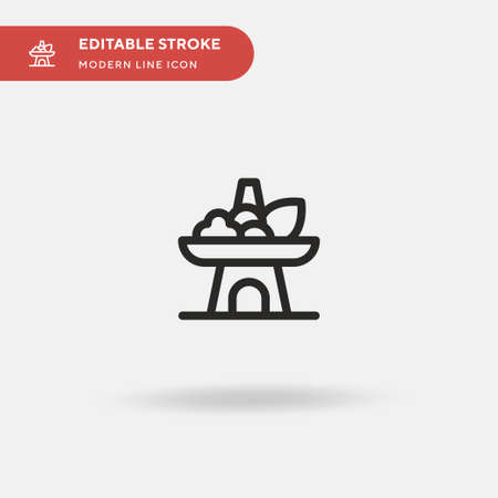 Hot Pot Simple vector icon. Illustration symbol design template for web mobile UI element. Perfect color modern pictogram on editable stroke. Hot Pot icons for your business project