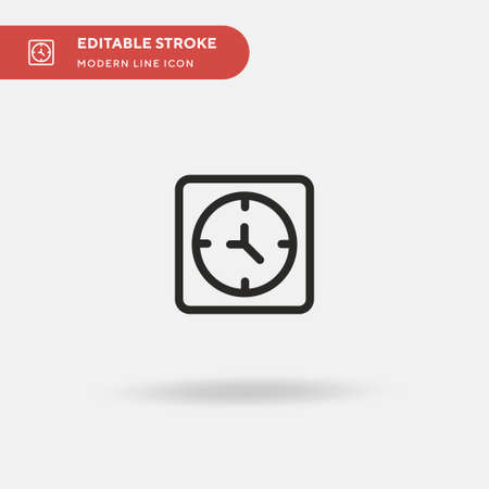 Clock Simple vector icon. Illustration symbol design template for web mobile UI element. Perfect color modern pictogram on editable stroke. Clock icons for your business project
