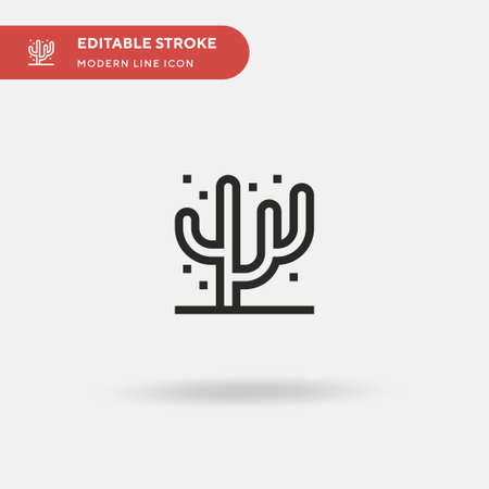 Coral Simple vector icon. Illustration symbol design template for web mobile UI element. Perfect color modern pictogram on editable stroke. Coral icons for your business project