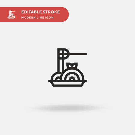 Pasta Simple vector icon. Illustration symbol design template for web mobile UI element. Perfect color modern pictogram on editable stroke. Pasta icons for your business project