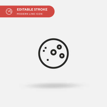 Full Moon Simple vector icon. Illustration symbol design template for web mobile UI element. Perfect color modern pictogram on editable stroke. Full Moon icons for your business project Ilustrace
