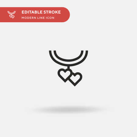 Necklace Simple vector icon. Illustration symbol design template for web mobile UI element. Perfect color modern pictogram on editable stroke. Necklace icons for your business project