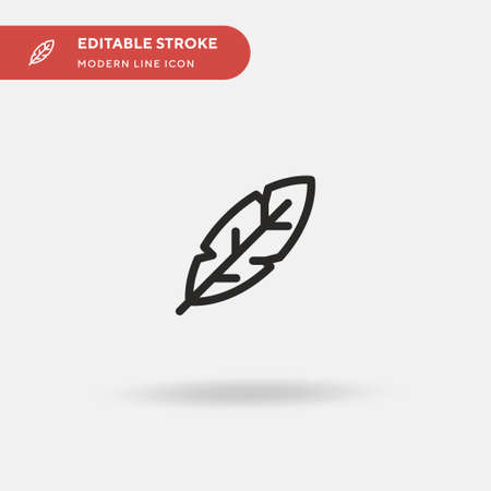 Leaf Simple vector icon. Illustration symbol design template for web mobile UI element. Perfect color modern pictogram on editable stroke. Leaf icons for your business project Ilustrace