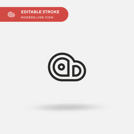 Steak Simple vector icon. Illustration symbol design template for web mobile UI element. Perfect color modern pictogram on editable stroke. Steak icons for your business project Stock Illustratie
