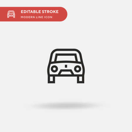 Car Simple vector icon. Illustration symbol design template for web mobile UI element. Perfect color modern pictogram on editable stroke. Car icons for your business project Ilustrace