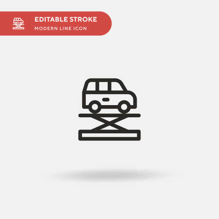 Jack Simple vector icon. Illustration symbol design template for web mobile UI element. Perfect color modern pictogram on editable stroke. Jack icons for your business project