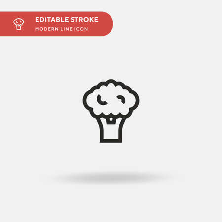 Broccoli Simple vector icon. Illustration symbol design template for web mobile UI element. Perfect color modern pictogram on editable stroke. Broccoli icons for your business project