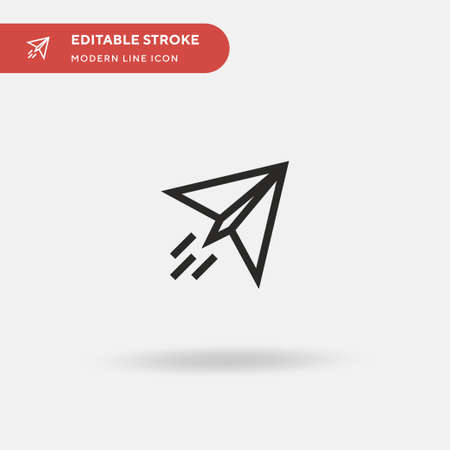Paper Plane Simple vector icon. Illustration symbol design template for web mobile UI element. Perfect color modern pictogram on editable stroke. Paper Plane icons for your business project Ilustrace