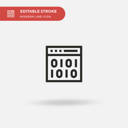 Binary Simple vector icon. Illustration symbol design template for web mobile UI element. Perfect color modern pictogram on editable stroke. Binary icons for your business project