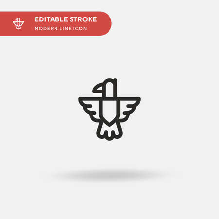 Eagle Simple vector icon. Illustration symbol design template for web mobile UI element. Perfect color modern pictogram on editable stroke. Eagle icons for your business project