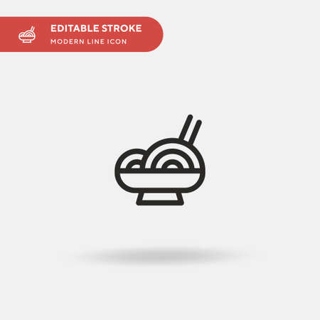 Noodles Simple vector icon. Illustration symbol design template for web mobile UI element. Perfect color modern pictogram on editable stroke. Noodles icons for your business project 일러스트