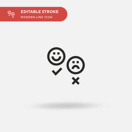 Emoticon Simple vector icon. Illustration symbol design template for web mobile UI element. Perfect color modern pictogram on editable stroke. Emoticon icons for your business project Ilustrace