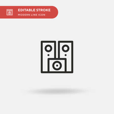 Sound System Simple vector icon. Illustration symbol design template for web mobile UI element. Perfect color modern pictogram on editable stroke. Sound System icons for your business project
