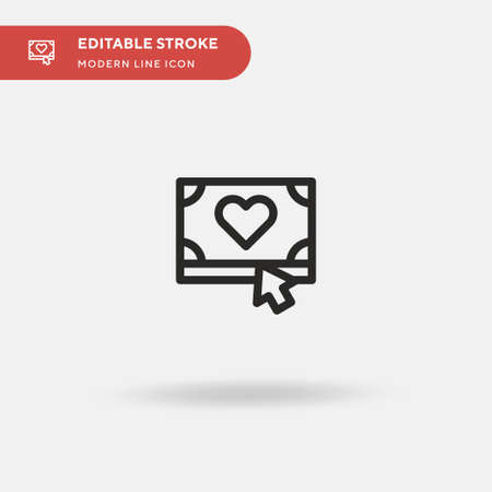 Donate Simple vector icon. Illustration symbol design template for web mobile UI element. Perfect color modern pictogram on editable stroke. Donate icons for your business project