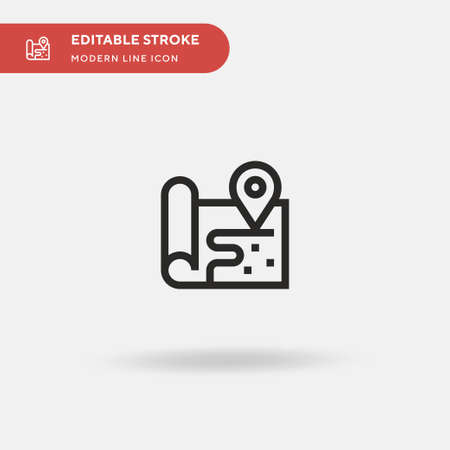 Map Simple vector icon. Illustration symbol design template for web mobile UI element. Perfect color modern pictogram on editable stroke. Map icons for your business project 向量圖像