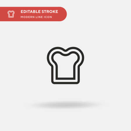Bread Simple vector icon. Illustration symbol design template for web mobile UI element. Perfect color modern pictogram on editable stroke. Bread icons for your business project 向量圖像