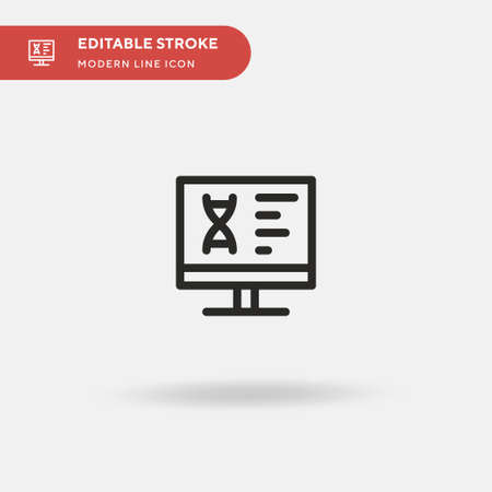Dna Simple vector icon. Illustration symbol design template for web mobile UI element. Perfect color modern pictogram on editable stroke. Dna icons for your business project