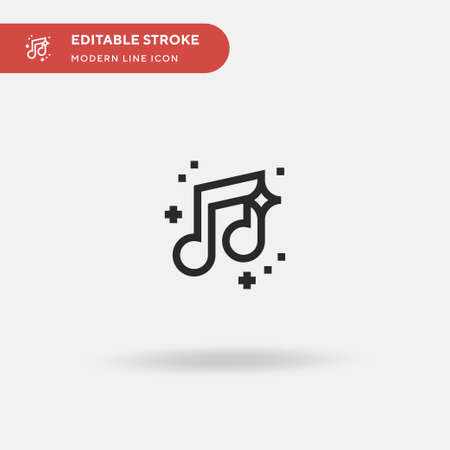 Musical Note Simple vector icon. Illustration symbol design template for web mobile UI element. Perfect color modern pictogram on editable stroke. Musical Note icons for your business project