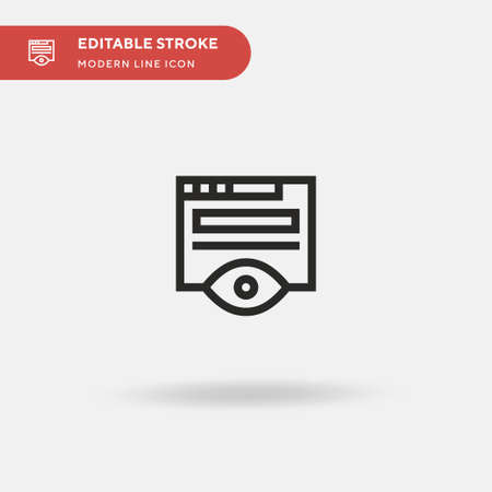 Monitoring Simple vector icon. Illustration symbol design template for web mobile UI element. Perfect color modern pictogram on editable stroke. Monitoring icons for your business project
