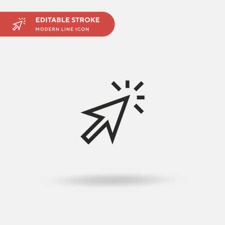 Clicker Simple vector icon. Illustration symbol design template for web mobile UI element. Perfect color modern pictogram on editable stroke. Clicker icons for your business project