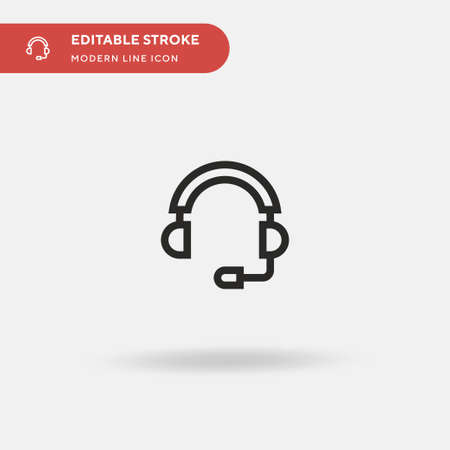 Headphones Simple vector icon. Illustration symbol design template for web mobile UI element. Perfect color modern pictogram on editable stroke. Headphones icons for your business project Ilustración de vector