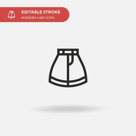 Skirt Simple vector icon. Illustration symbol design template for web mobile UI element. Perfect color modern pictogram on editable stroke. Skirt icons for your business project 向量圖像