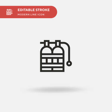 Oxygen Tank Simple vector icon. Illustration symbol design template for web mobile UI element. Perfect color modern pictogram on editable stroke. Oxygen Tank icons for your business project 向量圖像