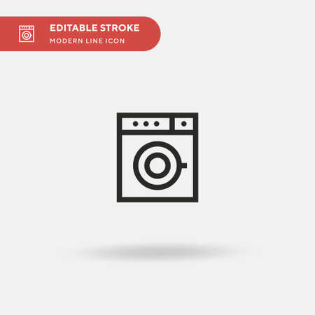 Washing Machine Simple vector icon. Illustration symbol design template for web mobile UI element. Perfect color modern pictogram on editable stroke. Washing Machine icons for your business project 版權商用圖片 - 153801515