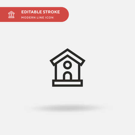 Bird House Simple vector icon. Illustration symbol design template for web mobile UI element. Perfect color modern pictogram on editable stroke. Bird House icons for your business project 向量圖像