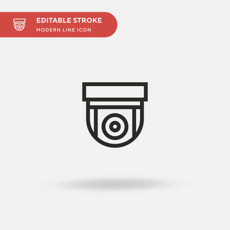 Cctv Camera Simple vector icon. Illustration symbol design template for web mobile UI element. Perfect color modern pictogram on editable stroke. Cctv Camera icons for your business project