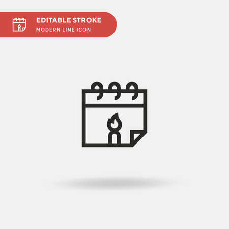 Birthday Simple vector icon. Illustration symbol design template for web mobile UI element. Perfect color modern pictogram on editable stroke. Birthday icons for your business project 向量圖像