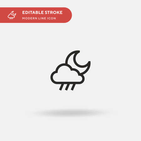 Rain Simple vector icon. Illustration symbol design template for web mobile UI element. Perfect color modern pictogram on editable stroke. Rain icons for your business project