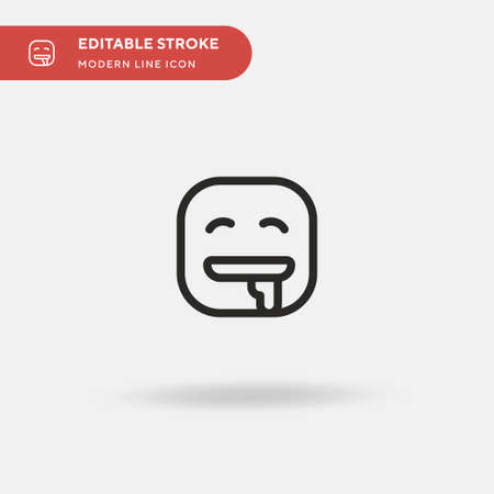 Drooling Simple vector icon. Illustration symbol design template for web mobile UI element. Perfect color modern pictogram on editable stroke. Drooling icons for your business project 向量圖像