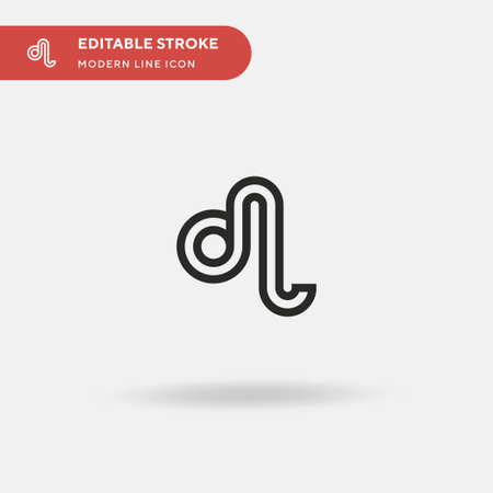 Leo Simple vector icon. Illustration symbol design template for web mobile UI element. Perfect color modern pictogram on editable stroke. Leo icons for your business project Vektorové ilustrace