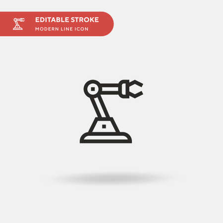 Robot Arm Simple vector icon. Illustration symbol design template for web mobile UI element. Perfect color modern pictogram on editable stroke. Robot Arm icons for your business project