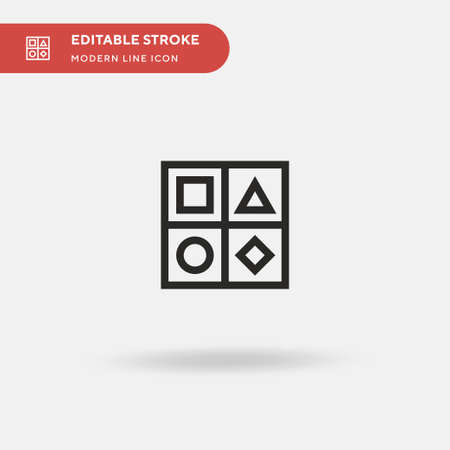 Shapes Simple vector icon. Illustration symbol design template for web mobile UI element. Perfect color modern pictogram on editable stroke. Shapes icons for your business project