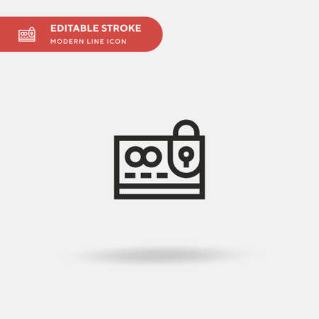 Data Simple vector icon. Illustration symbol design template for web mobile UI element. Perfect color modern pictogram on editable stroke. Data icons for your business project 版權商用圖片 - 153801585