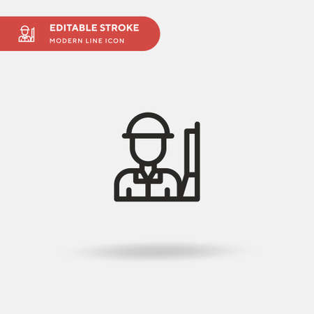 Soldier Simple vector icon. Illustration symbol design template for web mobile UI element. Perfect color modern pictogram on editable stroke. Soldier icons for your business project Ilustração