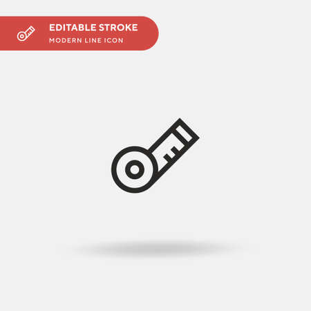 Measuring Tape Simple vector icon. Illustration symbol design template for web mobile UI element. Perfect color modern pictogram on editable stroke. Measuring Tape icons for your business project