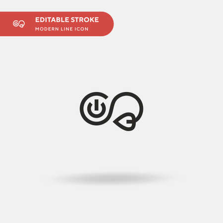 Sustainable Energy Simple vector icon. Illustration symbol design template for web mobile UI element. Perfect color modern pictogram on editable stroke. Sustainable Energy icons for your business project