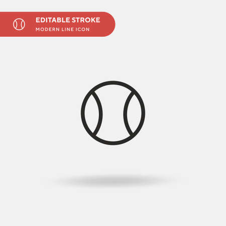 Tennis Ball Simple vector icon. Illustration symbol design template for web mobile UI element. Perfect color modern pictogram on editable stroke. Tennis Ball icons for your business project
